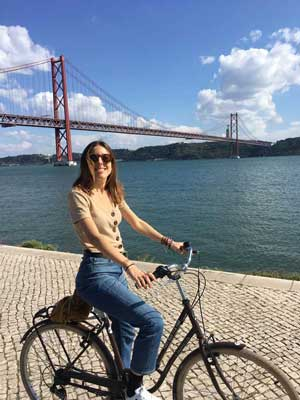 bike tour Tagus river Lisbon
