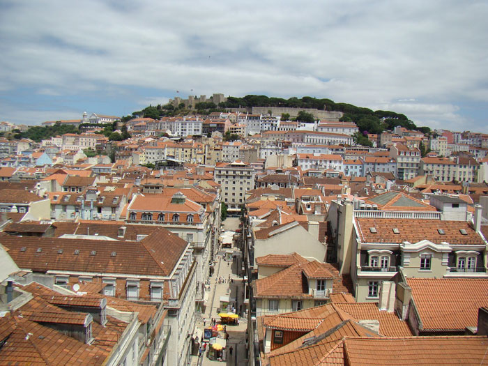 view from the elevator Santa Justa - Lisbon
