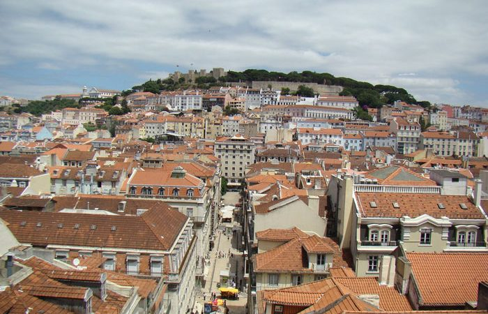view from the elevator Santa Justa - Lisbon